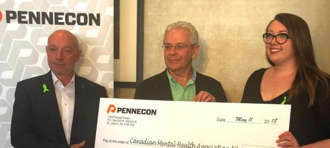 $250,000 to Canadian Mental Health Association of NL